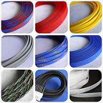 12 colors 4mm 6mm 8mm PET braided tube hose cable harness nylon mesh sheath extended three woven encrypted protection sleeve