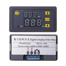 Timer Delay Relay Module Dual Digital LED Display Time Switch 0-999s 0-999m 0-999h Adjustable AC 220V Drop Shipping