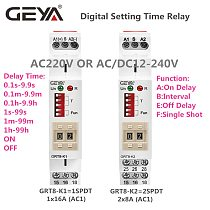 NEW GEYA GRT8-K Digital Setting Timer Relay AC DC 12V 24V 220V 230V Multifunction Time Delay on off Relay