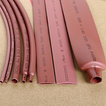 5M/Lot Brown - 2MM 4MM 6MM 8MM 10MM 12MM Assortment Ratio 2:1 Polyolefin Heat Shrink Tube Tubing Sleeving Cable Sleeves