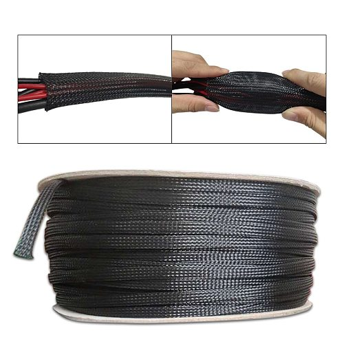 Length 1/5/50/100/200/300M Cable Sleeve Insulated Braided Sleeving Data line protection Wire Cable Flame-retardant nylon tube
