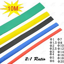 10 Meter 1mm 2mm 2.5mm 3mm 4mm 5mm 6mm Heat Shrink Heat Shrinkable Sleeving Tubing Tube Wrap Wire Kit Insulation Sleeve