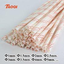 1M/Lot 1mm 1.5mm 2mm 2.5mm 3mm 3.5mm 4mm 5mm 600 Deg High Temperature Braided Soft Fiberglass Sleeving Fiber Glass Tube Tubing