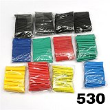 8 size multicolor / black 127 color 328 / 530Pcs various polyolefin heat shrinkable tube cable casing covered wire sheath DIY