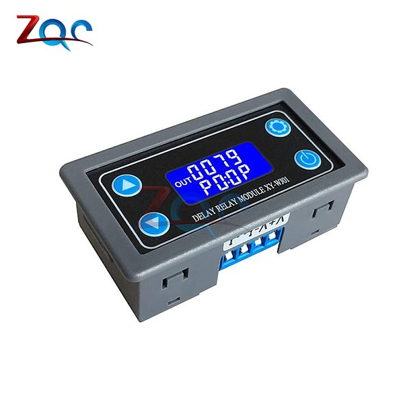 WJ01 DC12V LED Digital Time Delay Relay Module Programmable Timer Relay Control Switch Timing Trigger Cycle with Case for Indoor