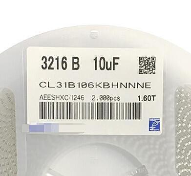 Free Shipping 2000pcs/lot CL31B106KBHNNNE 10UF(106) 50V X7R 10% 1206/3216 New and original Fuse