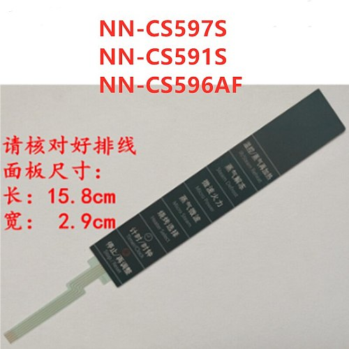 2pcs  Microwave oven panel membrane switch  NN-CS597S NN-CS591S NN-CS596AF  switch touch control button