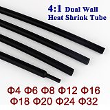 4:1 Heat Shrink Tube 4mm to 32mm with Adhesive Glue Lined Dual Wall Heatshrink Tubing cable Sleeving Wrap Wire kit