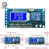 Micro USB Digital LCD Display Time Delay Relay Module DC 6-30V Control Multifunction Timer Switch Trigger Cycle Module Board 12V
