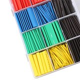 530pcs Polyolefin Heat Shrink Tube Ratio Tubing Insulation Shrinkable Tubes Assortment Electronic 2:1 Wrap Wire Cable Insulated