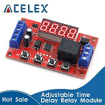 DC 5V 12V 24V 10A Adjustable Time Delay Relay Module LED Digital Timming Relay Timer Delay Trigger Switch Timer Control Switch