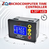 12V 24V 110V-220V 1.37'' LCD Display Microcomputer Time Controller Timer Delay Relay Module Programmable Control for Indoor Home