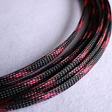 1-50M Cable Sleeves Black & Pink Snakeskin Mesh Wire Protecting Nylon Tight PET Expandable Insulation Sheathing Braided Sleeves