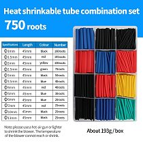 Heat Shrink able Tubing Tube Polyolefin termoretractil Insulation Heat Shrink Tubing With Glue Heat Shrink Tube 750/580/560 pcs