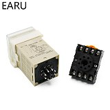 High DH48S-1Z Digital LED Programmable Timer Time Relay Switch DH48S 0.01S-99H99M DIN RAIL AC110V 220V DC 12V 24V Socket Base