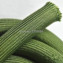 5M soft cotton Nylon Sleeve  4/6/8/10/12/14/16/18mm Wire Cable Protecting Nylon Braided High Density wire protection army green