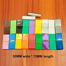 100pcs/lot 18650 battery film sleeve PVC heat shrinkable sleeve HM outer skin packaging package casing 30*72MM