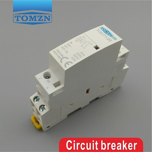 TOCT1 2P 25A 110V COIL 230V 50/60HZ Din rail Household ac Modular contactor 1NC 1NO