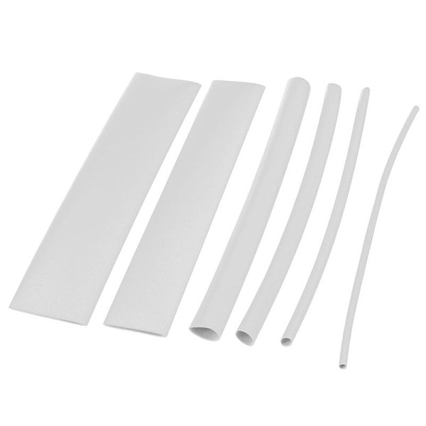 100 pcs heat shrink tube casing heat shrink tube color:white
