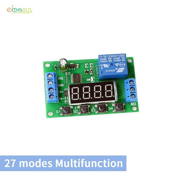 Smart Electronics Delay Relay Delay Turn On / Delay Turn off Switch Module with Timer DC5V12V24V Loop 27 modes Multifunction