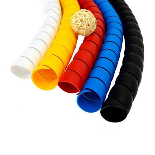 2meters  8mm Line Organizer Pipe Protection Spiral Wrap Winding Cable Wire Protector Cable Sleeve Cover Tube