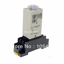 1Pc H3Y-2 Power On Time Delay Relay Timer 1-30Min DPDT 8Pins&Socket 12VDC/24VDC/24VAC/110VAC/220VAC 5A