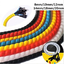 1M Spiral Cable Sleeves Wrap Sleeving Cable Protector Flame Retardant Tube Hose Water Pipe Protective Sleeve for Car Washer