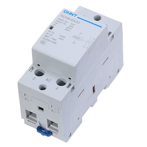 CHNT NCH8-63/20 2 Pole 63A 2NO DIN rail contactor household modular contactors Modular AC Contactor