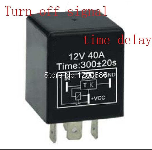 30A 5 minutes delay off after switch turn off Automotive 12V Time Delay Relay SPDT 300 second delay release off relay