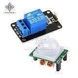 HC-SR501 SR501 Human Infrared Pyroelectr Sensor PIR + 5V 1 Channel Relay Module