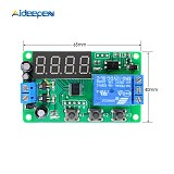 DC12V Time Delay Relay LED Digital Automation Delay Relay Trigger Time Timer Control Cycle Adjustable On Off Switch Relay Module