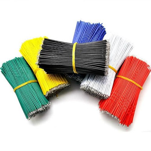 100pcs/Lot Tin-Plated Breadboard Jumper Cable Wire 10cm 24AWG For Arduino 5 Colors Flexible Two Ends PVC Wire Electronic