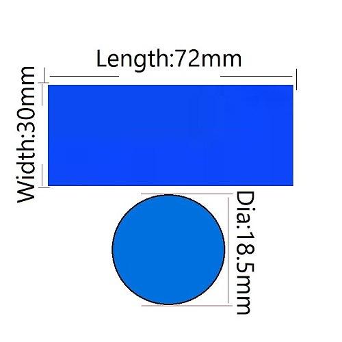 20/50/100/250/500pcs PVC Heat Shrink Tubing Sleeve Precut 18.5mm x 72mm Battery Film Cover Tape Sheath For 18650 Battery Wrap