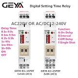 NEW ARRIVAL GEYA GRT8-K Digital Setting Timer Relay AC DC 12V 24V 220V 230V Multifunction Time Delay on off Relay