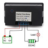 Red + Blue Dual Display Digital Time Relay Module AC 110V 220V DC 12V Cycle timing delay relay switch timer control relay module