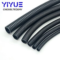 1M 6.5mm-20mm Corrugated tube auto car corrugated tube pipe insulation wire harness casing corrugated casing