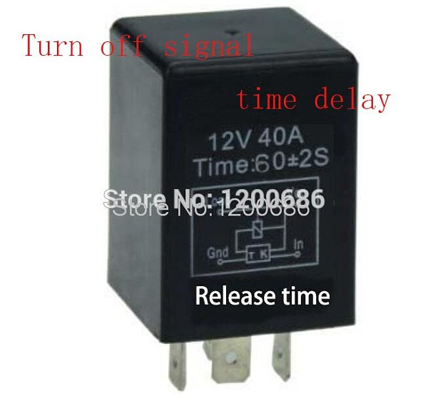 30A 1 minutes delay off after switch turn off  Automotive 12V Time Delay Relay SPDT 60 second delay release off relay