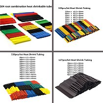 70/127/164/150/328/530Pcs Assorted Polyolefin Heat Shrink Tube Cable Sleeve Wrap Wire Set Insulated Shrinkable Tube