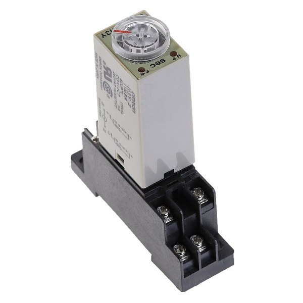 Delay Timer 0-5 SEC H3Y-2 DC12V DC24V AC110V AC220V Time Relay with PYF08A 8pin Base Mini Time Relay