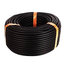25 Ft 3/8 inch Split Wire Loom Conduit Polyethylene Tubing Black Color Sleeve Tube