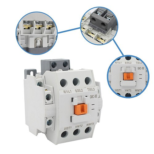 Manhua 3 phase AC GMC-32 Control Power Signal Electrical Magnetic Contactor
