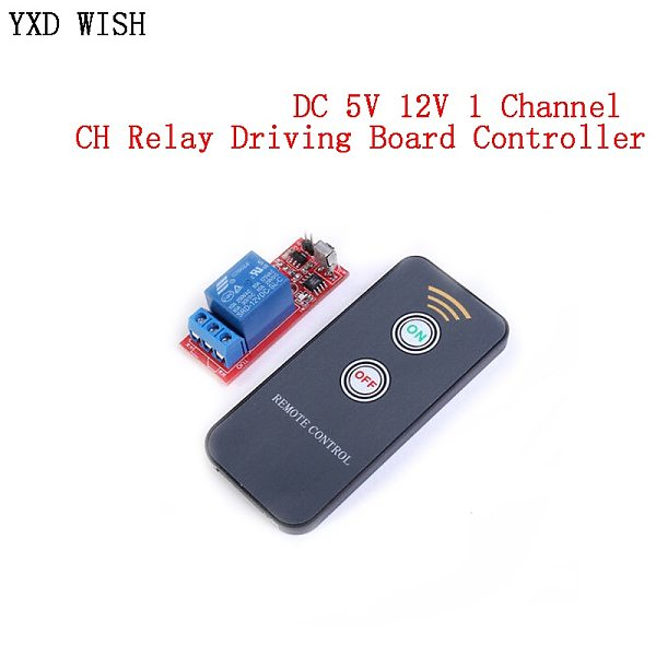 DC 5V 12V 1 Channel Relay Module Infrared IR Remote Switch Control 1 CH Relay Driving Board Controller For Electronic DIY Relays