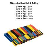 127pcs /328pcs Set Polyolefin Shrinking Assorted Heat Shrink Tube Wire Cable Insulated Sleeving Tubing Set