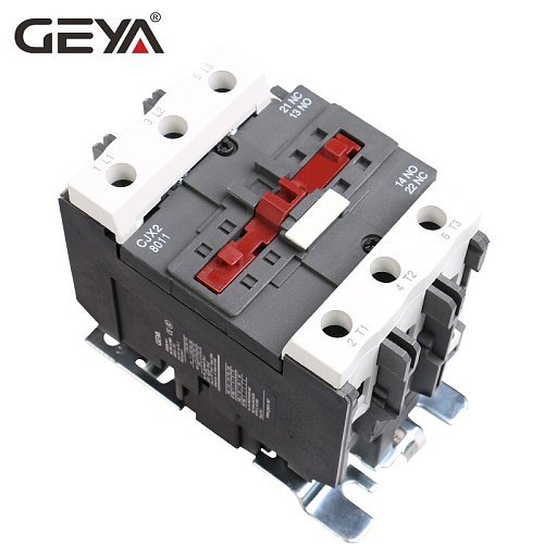 GEYA CJX2-8011  9511 Magnetic AC Contactor 80A 95A Industrial Electric Contactor 1NO1NC with 220V or 380V Coil