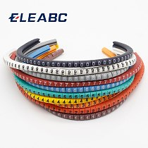 500PCS EC-0 Cable Wire Marker 0 to 9 For Cable Size 1.5 sqmm Colored