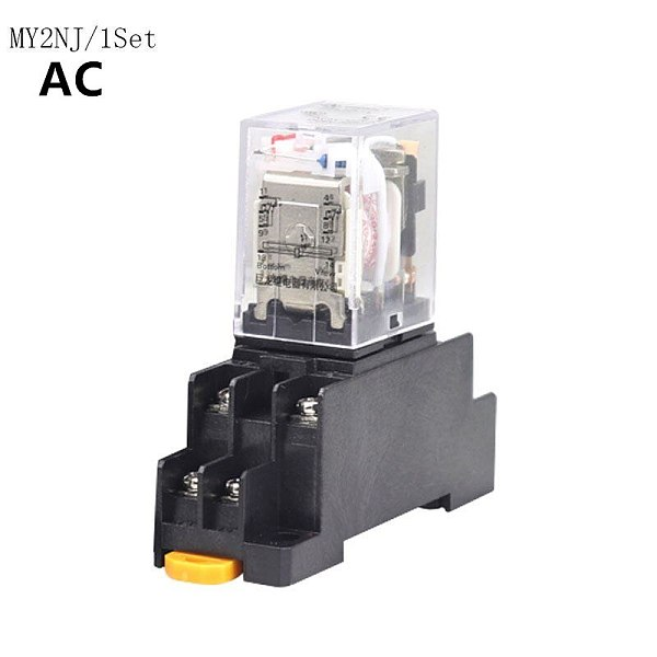 MY2P HH52P MY2NJ relay coil DPDT micro mini relay with socket base holder AC 12V 24V 36V 48V 110V 220V 380V