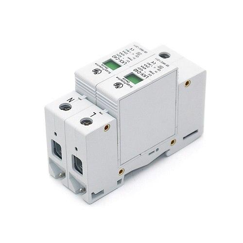 Hot sale C40-2P 20KA~40KA ~275V AC SPD House Surge Protector Protective Low-voltage Arrester Device 1P+N Lightning protection