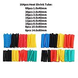 164pcs/328pcs/127pcs/530pcs Set Polyolefin Shrinking Assorted Heat Shrink Tube Wire Cable Insulated Sleeving Tubing Set 2:1