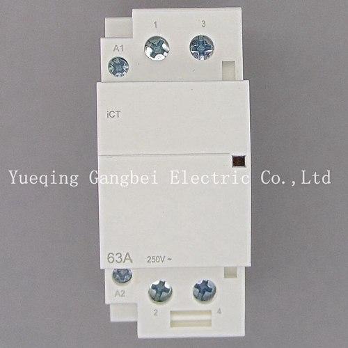 iCT 2P 63A 220V/230V 50/60HZ Din rail Household ac contactor 2NO