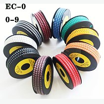 cable marker label EC-0 1000pcs Wire Marker Number 0 to 9 Cable Size 1.5 sqmm mix Colored PVC cable markers insulation marker